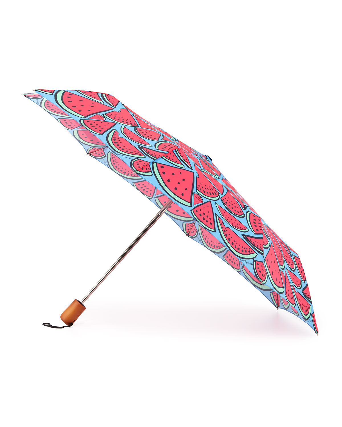 Watermelon-Print Umbrella, Pink