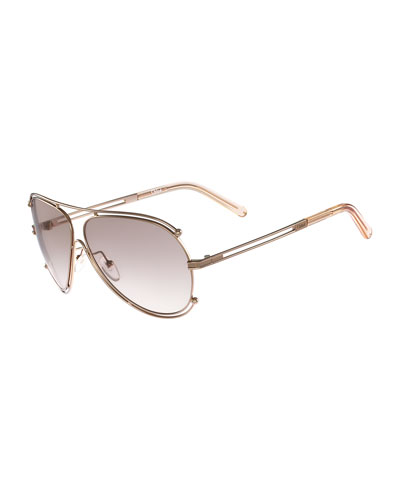 Isidora Metal Aviator Sunglasses