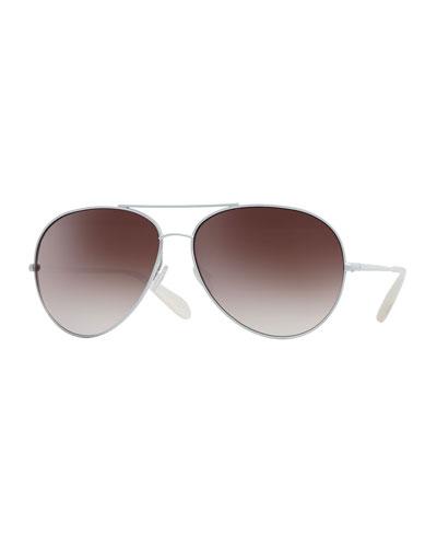 Sayer Oversized Mirrored Aviator Sunglasses