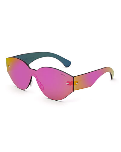 Tuttolente Drew Mama Iridescent Oval Sunglasses, Pink