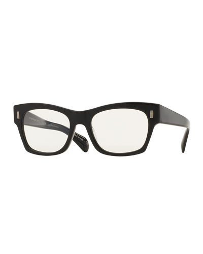 71st Street Photochromic Square Sunglasses, Black