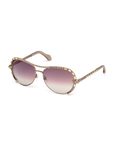 Studded Metal Aviators, Bronze