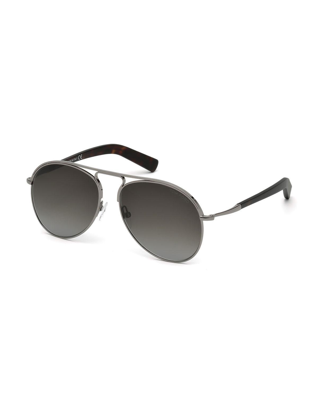 Cody Aviator Sunglasses, Gunmetal