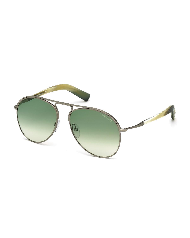 Cody Aviator Sunglasses, Silver