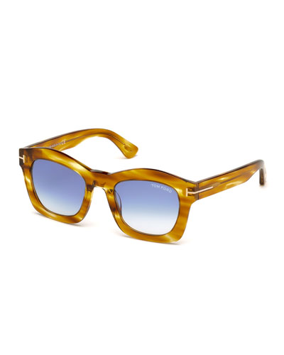 Greta Square Sunglasses, Honey