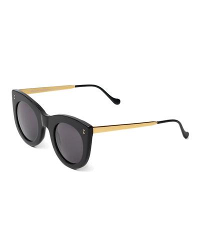 Boca II Cat-Eye Sunglasses, Black
