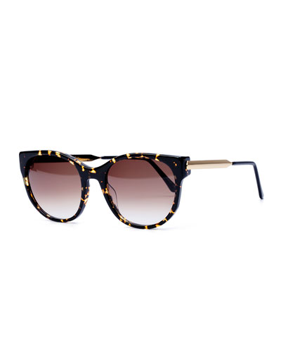 Axxxexxxy Butterfly Sunglasses, Dark Brown Havana