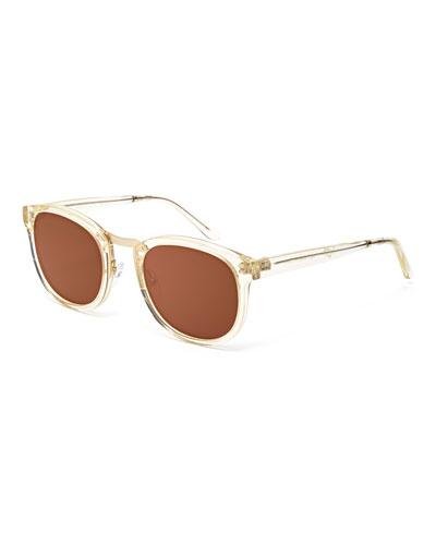 Crossroad Monochromatic Square Sunglasses, Vintage Crystal