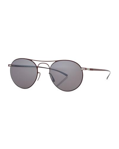Essential Round Sunglasses, Red/Purple