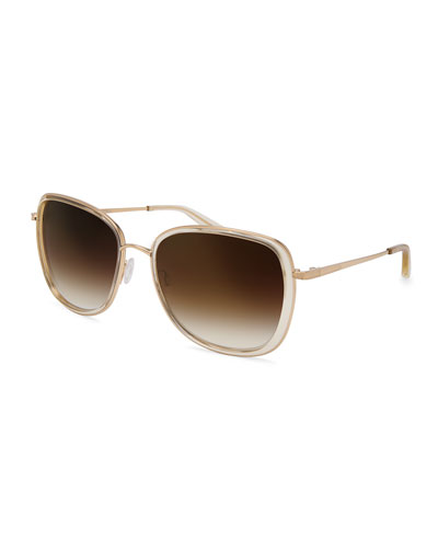 Tiegs Gradient Square Sunglasses, Champagne/Gold