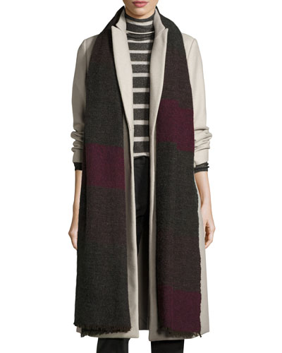 Long Colorblock Scarf, Viola