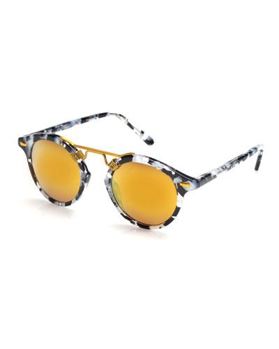 St. Louis Mirrored Round Sunglasses, Interstellar