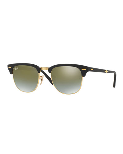 Foldable Clubmaster® Flash Sunglasses, Green/Black