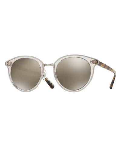 Spelman Square Floating-Lens Sunglasses, Gray