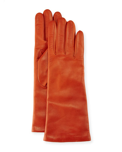 Napa Leather Gloves, Burnt Sienna