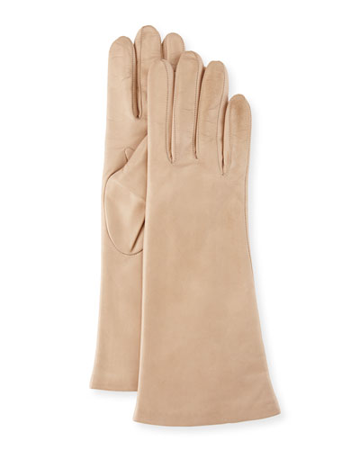 Napa Leather Gloves, Nude