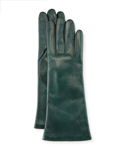 Napa Leather Gloves, Conifer Green