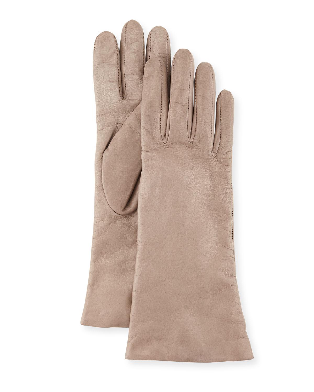 Napa Leather Gloves, Hematite