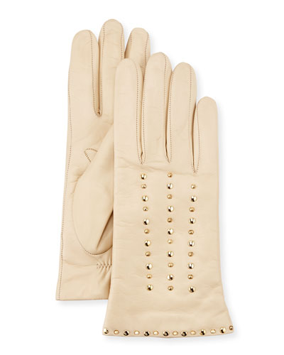 Studded Leather Gloves, Parchment