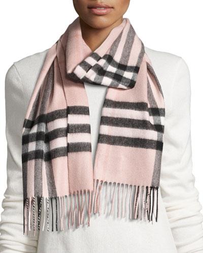 burberry animal print giant check cashmere scarf
