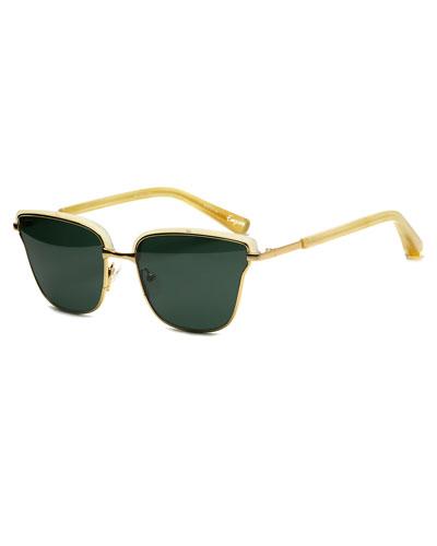 Empire Square Sunglasses, Yellow