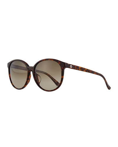 GG-Temple Butterfly Sunglasses, Havana