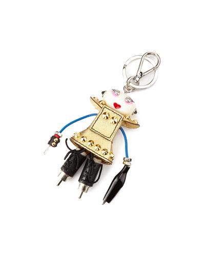 Nancy Robot Charm, Pink/Gold (Platino)