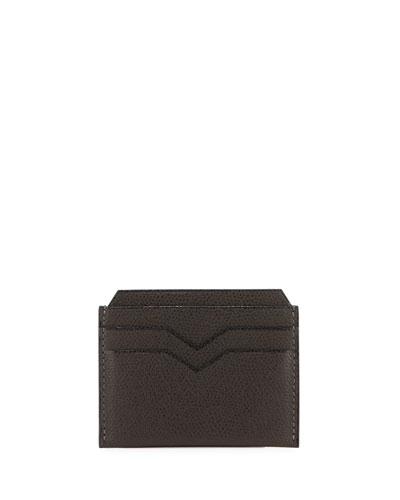Leather Card Case, Dark Brown
