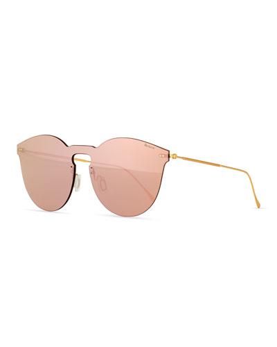 Illesteva Leonard II Mask Sunglasses, ROSE GOLD