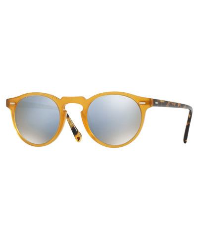 Gregory Peck 47 Limited Edition Mirrored Sunglasses, Multicolor