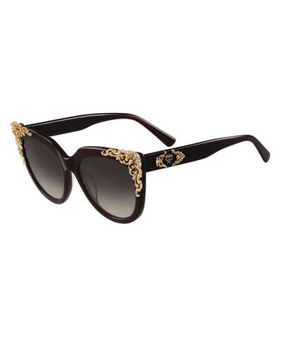 Viktoria Acanthus Cat-Eye Sunglasses