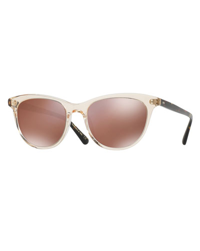 Jardinette Mirrored Square Sunglasses