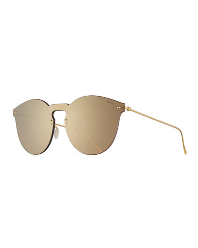 Leonard II Mask Sunglasses, Brown