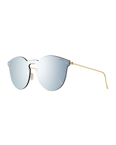 Leonard II Mask Sunglasses, Gray