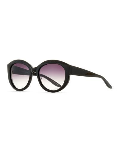 Patchett Gradient Sunglasses, Black/Smolder