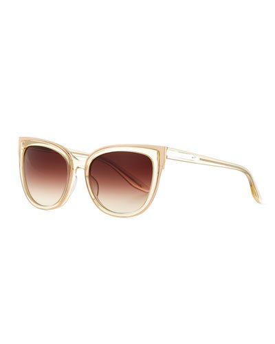 Winette Gradient Cat-Eye Sunglasses, Neutral