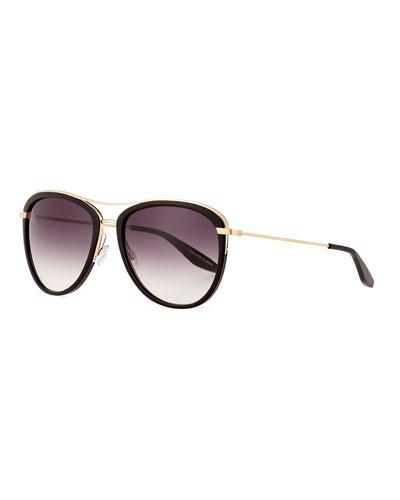 Aviatress Universal-Fit Aviator Sunglasses, Black
