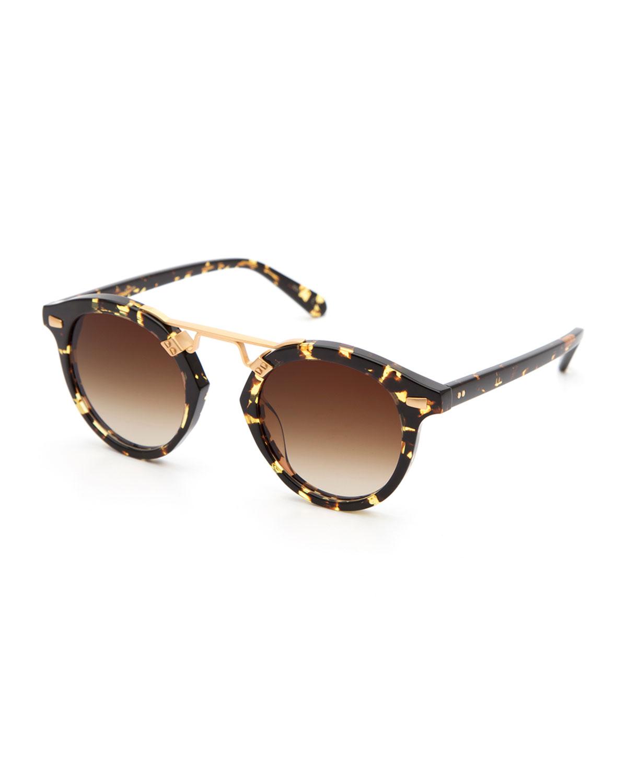 Krewe Sunglasses STL II ROUND GRADIENT SUNGLASSES, TORTOISE