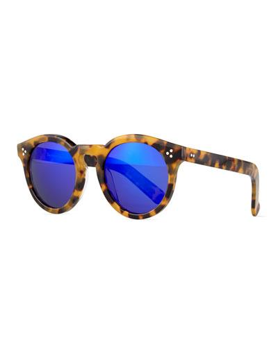 Leonard II Round Sunglasses, Brown