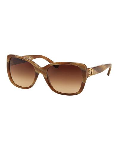 Gradient Squared Cat-Eye Sunglasses