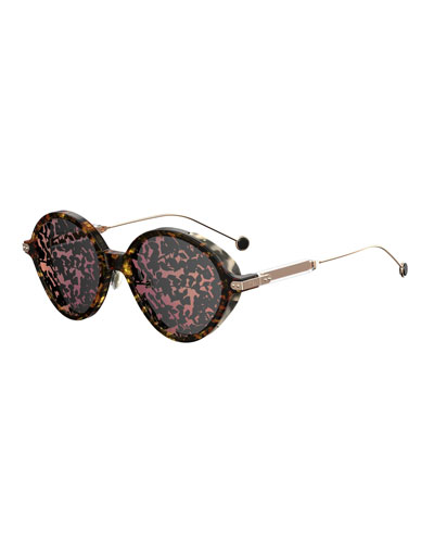 Umbrage Round Printed Sunglasses