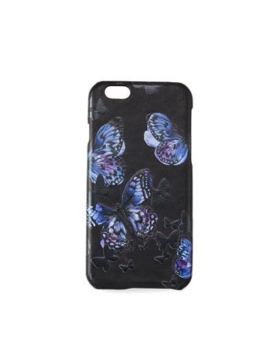 Flutter iPhone Case, Black/Purple