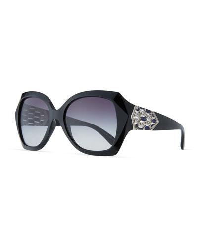 Serpenti Oversized Butterfly Sunglasses