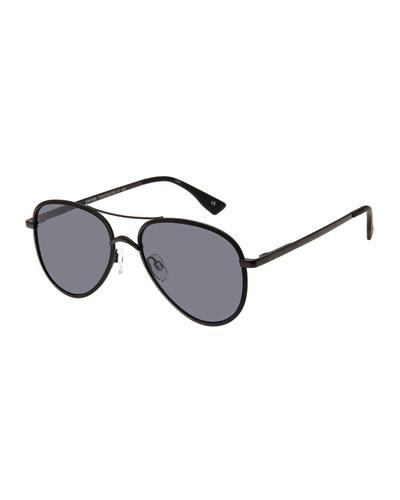 Empire Laser-Cut Aviator Sunglasses, Rose/Gold