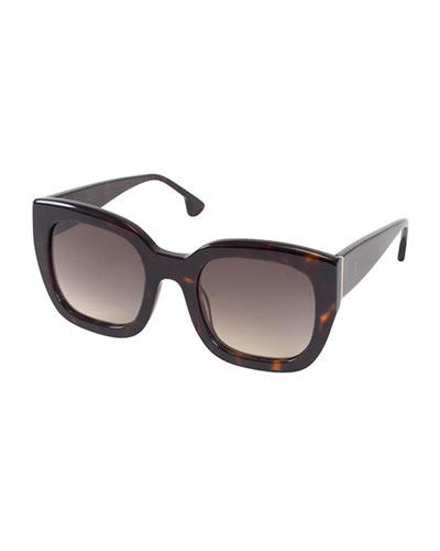 Aberdeen Square Sunglasses, Brown Tortoise
