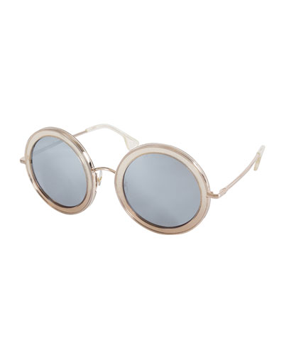 Beverly Round Sunglasses, Multicolor