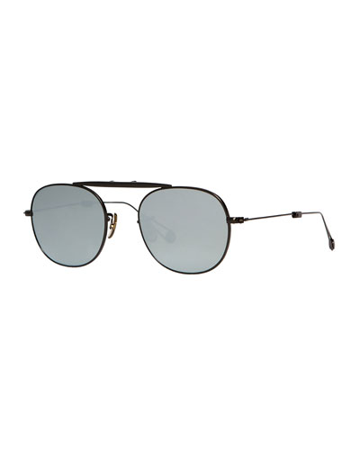 Van Buren Foldable Metal Sunglasses, Black