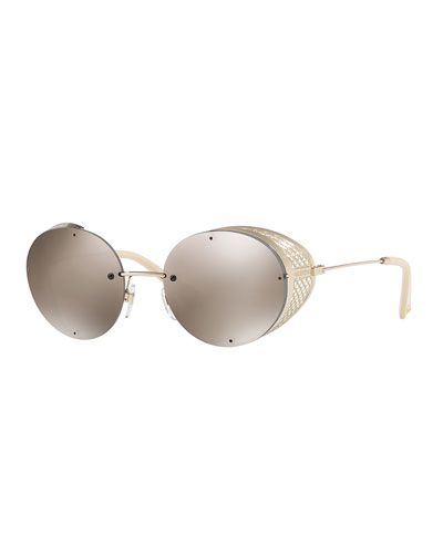 Glamtech Round Metal Mesh Sunglasses