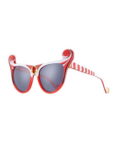 The Win at the Wynn Ultra Cat-Eye Sunglasses