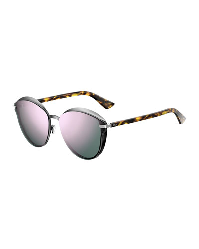 Murmure Round Mirrored Sunglasses